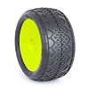 AKA Racing 1:10 Deja Vu Rear Buggy (Soft) Mounted Tires (Yellow)(2 Pairs)