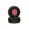 ARRMA Mojave 6S BLX dBoots Fortress Pre-Mounted Tire Set (Red) (2)