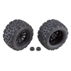 Team Associated Rival MT10 Tires and Method Wheels Mounted Hex Black