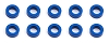 Team Associated Ballstud Washers Blue Aluminum 5.5x2.0 mm (10pcs)