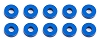 Team Associated Bulkhead Washers Blue Aluminum 7.8x2.0 mm (10pcs)