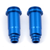 Team Associated Front Shock Bodies (Blue) (12x27.5 mm)