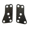 Team Associated RC8 B3.2 Carbon Fiber Front Upper Suspension Arm Inserts (2)
