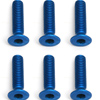 Associated Front Screws Blue Aluminum 3X12 mm Fhcs