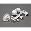 Axial Drivers Head and Hat Set (White)
