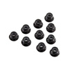 Axial Serrated Nylon Lock Nut Black 4mm (10)