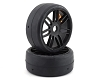 GRP GT - TO2 Slick Belted Pre-Mounted 1/8 Buggy Tires (Black) (S5) (2)