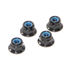 HPI Racing Flanged Lock Nut, M4, (4pcs)