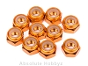HPI Racing M4 Orange Aluminum Lock Nut (10)