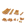 KO Propo Aluminum Screw Set for EX-RR / EX-2 / LDT / NEXT (Orange)