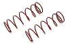 Kyosho Big Shock Spring (7-1.5/L=70) (Red) (2)