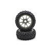 Kyosho 10-Spoke Wheel with Tire(Gunmetal) (2pc)