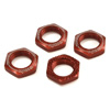 Kyosho 17mm Wheel Nut (Red/4pcs/Serrated)