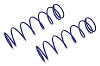 Kyosho Big Shock Spring (8-1.5/L=81) (M Blue) (2)