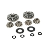 Losi Internal Differential Gears & Shims (6): 5IVE-T, MINI WRC
