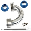 Novarossi Polished Curved Header Set 2Rings Ø16/13mm + 21000 + 60001 + 60004