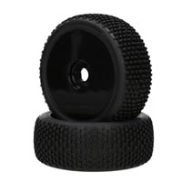 Performa Khaos 1:8 Mounted Tire (Pink Compound) (Black Carbon Wheel) 1pr