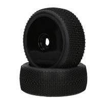 Performa Megabite 1:8 Moiunted Tire (Yellow Compound) (Black Carbon Wheel) 1pr