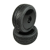 Performa Racing Beams 1/8 Buggy Mounted Tires (Pink Compound) (Black Carbon Wheel) 1pr