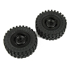 Panda Hobby Classico4 Tires and Aluminum Wheels Black (2)