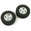 Panda Hobby Classico4 Tires and Aluminum Wheels Silver (2)