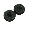 Panda Hobby Tires and Wheels, Mounted and Glued (2pcs)