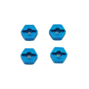 Redcat 12mm Aluminum Wheel Hex (Blue) (4pcs)