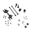 Tekno RC M6 Driveshafts and Steering Blocks Front 6mm: Slash 4X4