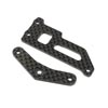 Team Losi Racing Carbon Brace and Servo Top Plate: 22X-4