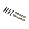 Team Losi Racing Adjustable Rear Hinge Pin Brace w/Inserts: 8XT