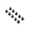 Team Losi Racing Flat Head Screws, M4x8mm (10)