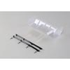 Team Losi Racing Polycarbonate Wing, Pre Cut,Clear: 8/E/T 4.0