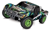 Traxxas Slash 4X4 RTR 4WD Brushed Short Course Truck w/TQ 2.4GHz Radio, Battery & DC Charger (Green)