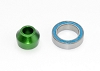 Traxxas Aluminum Slipper Shaft Bearing Adapter w/Bearing (Green)