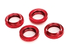 Traxxs X-Maxx Spring Retainer (adjuster), Red-Anodized Aluminum (4)