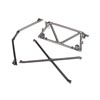 Traxxas Tube Chassis Center / Rear Support / Cage Top (Satin Black Chrome-Plated)