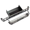 Traxxas Rear Bumper & Bumper Extension (Satin Black Chrome-Plated)