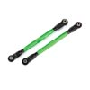 Traxxas Toe Links Wide Maxx Tubes Aluminum Anodized Green
