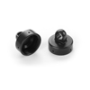 Xray XB8 Aluminum Shock Cap Nut 4x Bleed Hole - Black Cop