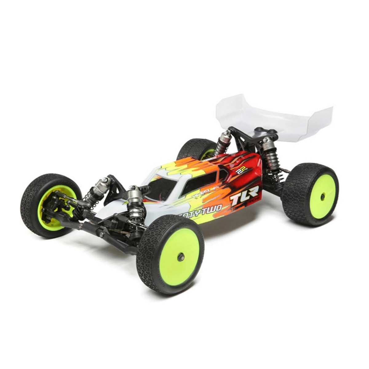 Team Losi Racing Ultra Light Weight Body /& Wing Set w// Decals 22 4.0 Clear