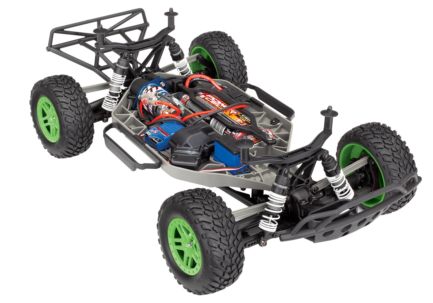 Traxxas Slash 4X4 RTR 4WD Brushed Short Course Truck w/TQ 2 4GHz Radio,  Battery & DC Charger (Green)