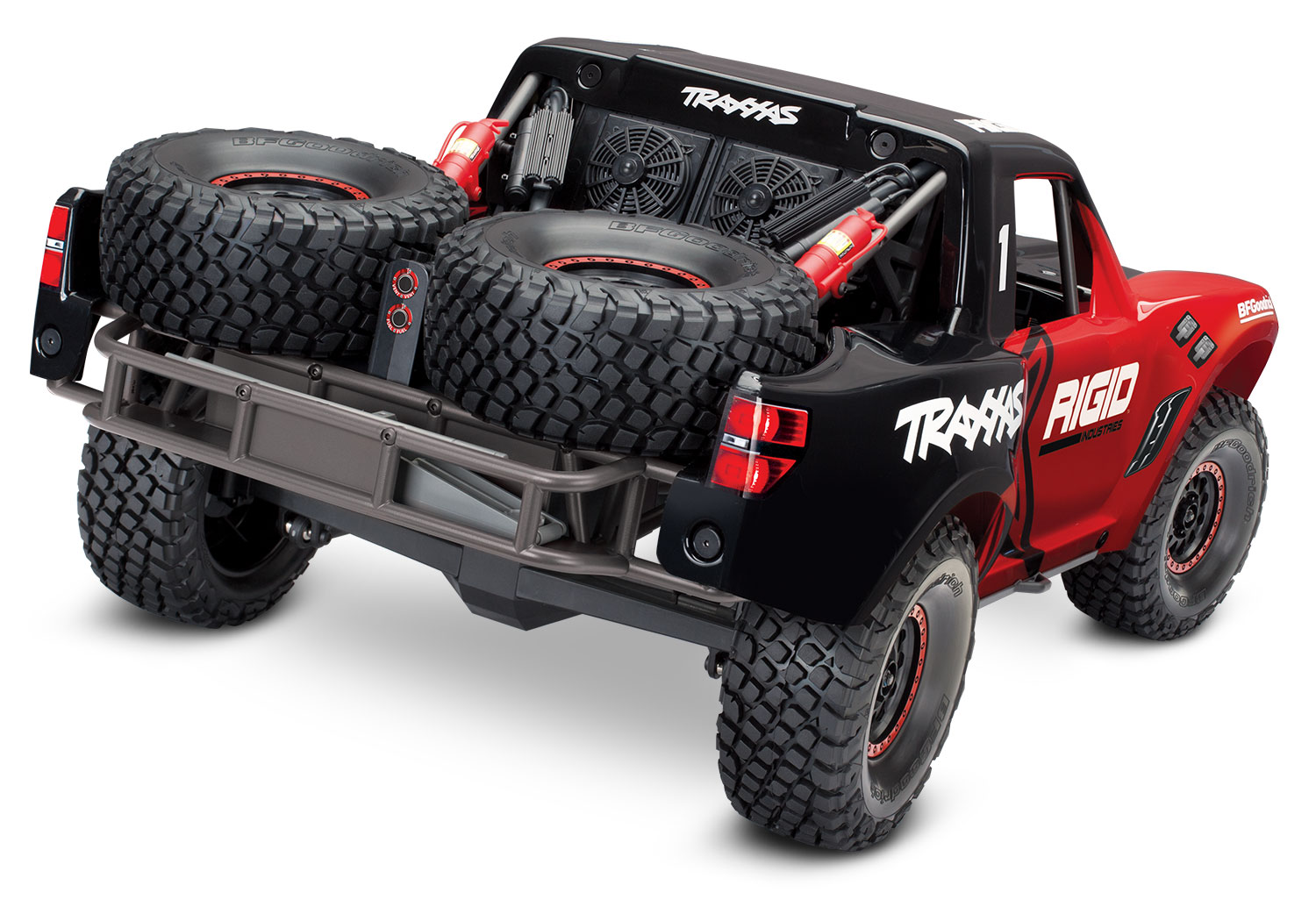 Traxxas Unlimited Desert Racer 6S 4WD Electric Race Truck (Rigid Industries  Red)