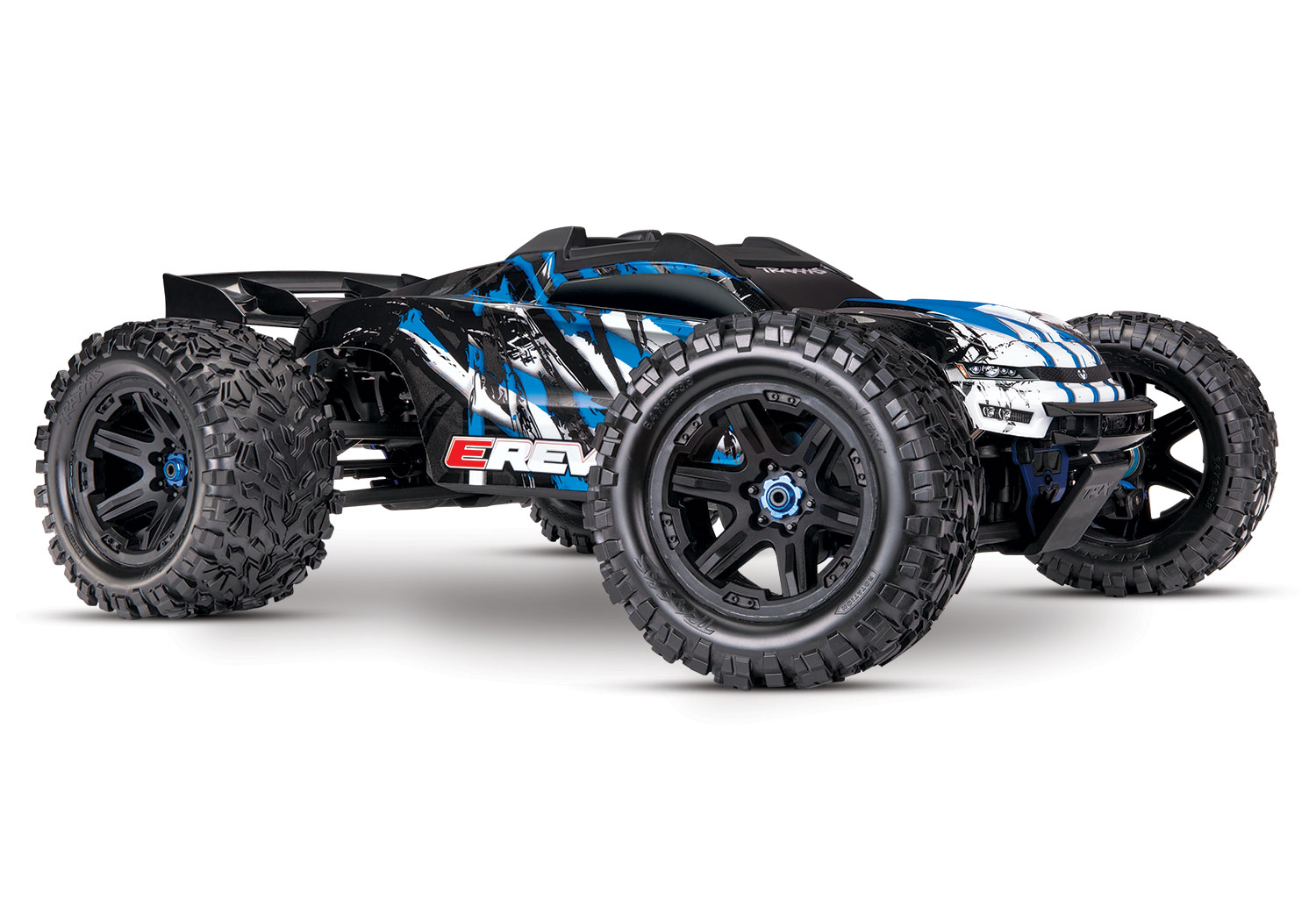 Traxxas E-Revo VXL 2.0 RTR 4WD Electric Monster Truck (Blue)