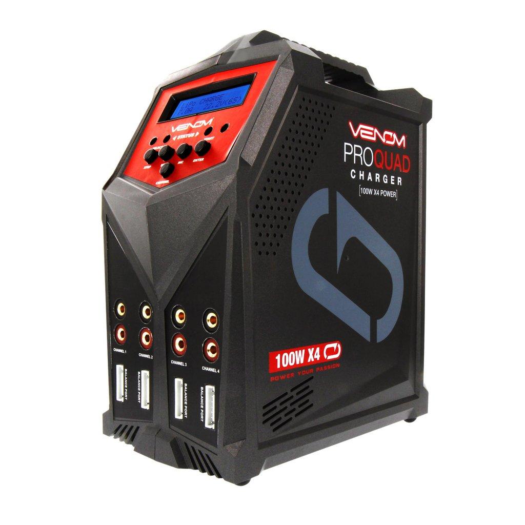 Venom Pro Quad 100W 7A 4-Port AC/DC LiPo, LiHV & NiMH Battery