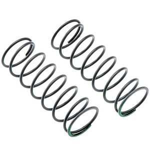 Axial Spring12.5x40mm4.08lbs/in Medium Green (2)