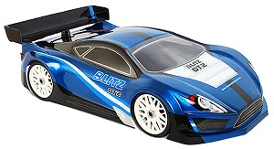 Blitz 1/8 GT2 Clear Body 1.0mm w/ Wing (wheelbase 323 to 328mm)