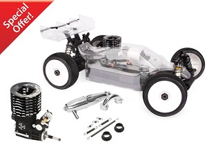 Hot Bodies Racing D817 1/8 Scale Nitro Buggy Combo (Engine & Exhaust Included)
