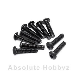 HB Racing Button Head Screw M3X14mm (Hex Socket/10pcs)