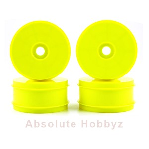 Kyosho 1/8th Off Road Dish Wheels (Yellow) (4)