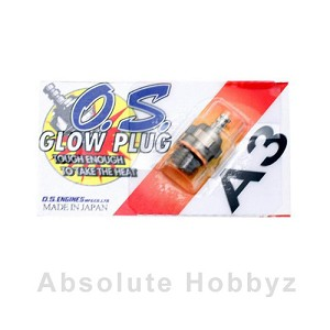 O.S. A3 #6 Short Body Standard Glow Plug (Hot)